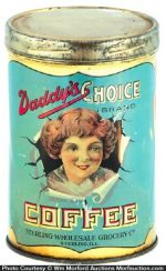 Daddy's Choice Coffee Tin