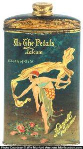 As The Petals Talcum Tin