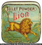 Lion Toilet Powder Tin