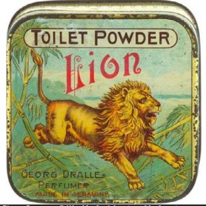 Lion Toilet Powder Tin