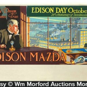 Edison Mazda Light Bulbs Sign