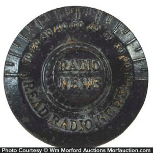 Radio News Paperweight