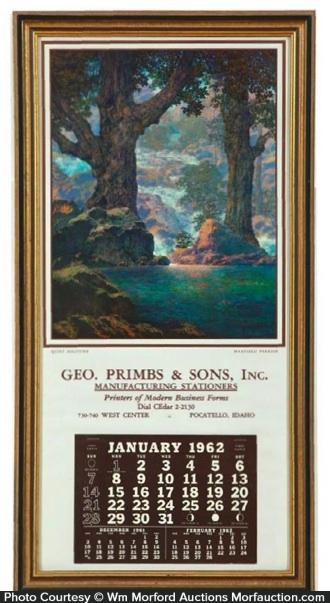 Maxfield Parrish Solitude Calendar
