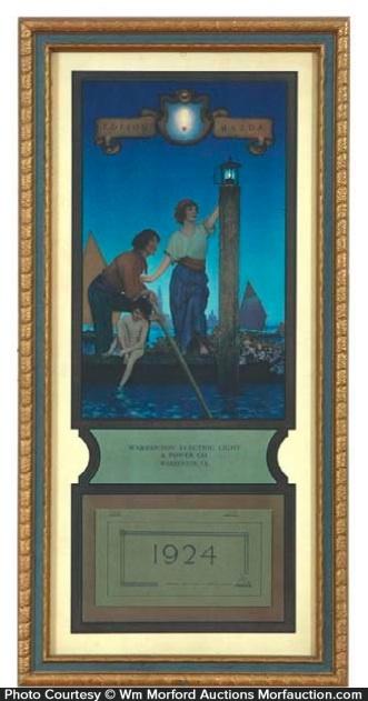 Maxfield Parrish Venetian Lamplighter Calendar