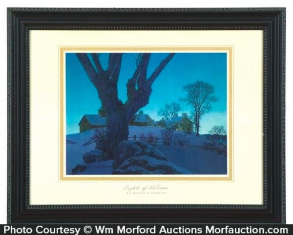 Maxfield Parrish Lights Of Welcome Print