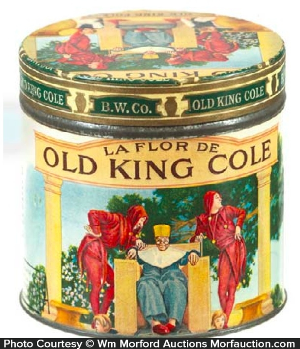 Old King Cole Cigar Can