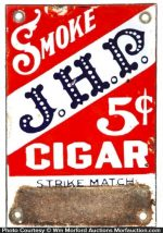 J.H.P Cigars Match Scratcher