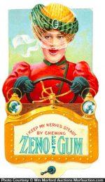 Zeno Pepsin Gum Card