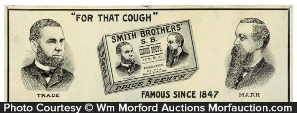 Smith Brothers Cough Drop Sign