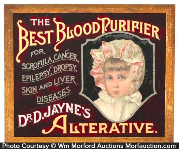 Dr. Jayne's Alternative Glass Sign