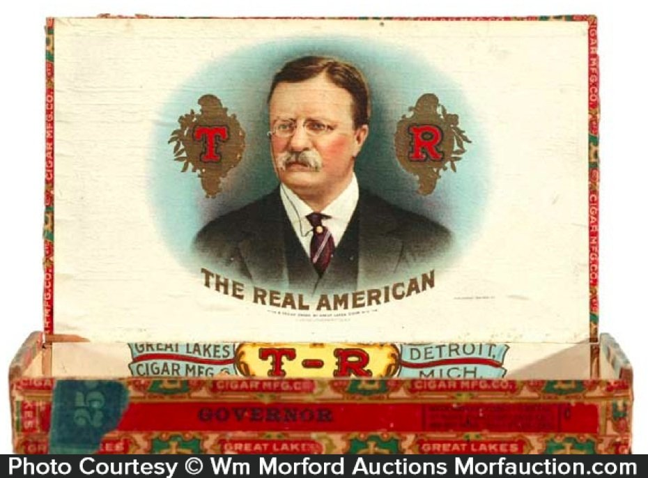 Teddy Roosevelt Cigar Box