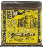 Detroit Club Tobacco Tin
