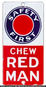 Chew Red Man Door Push
