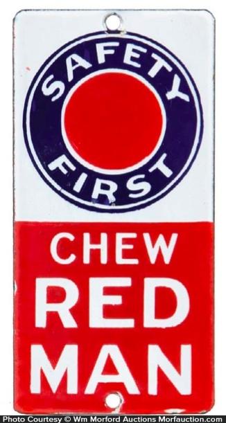 Chew Red Man Door Push