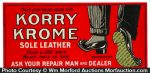 Korry Krome Sole Leather Sign