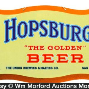 Hopsburger Beer Sign