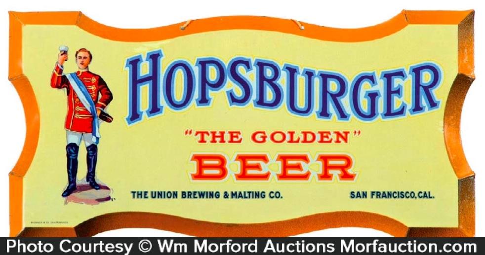 Hopsburger Beer Sign