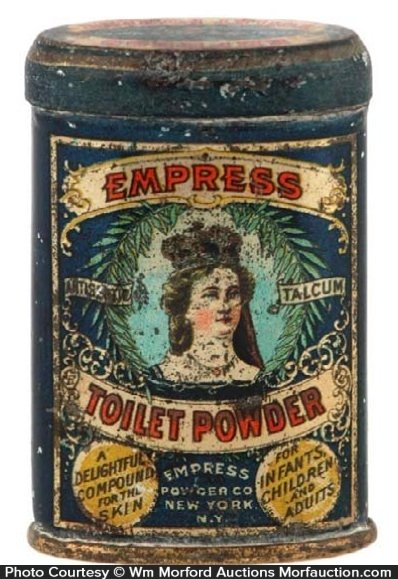 Empress Toilet Powder Tin