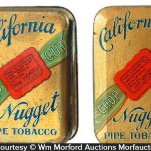 California Nugget Tobacco Tins