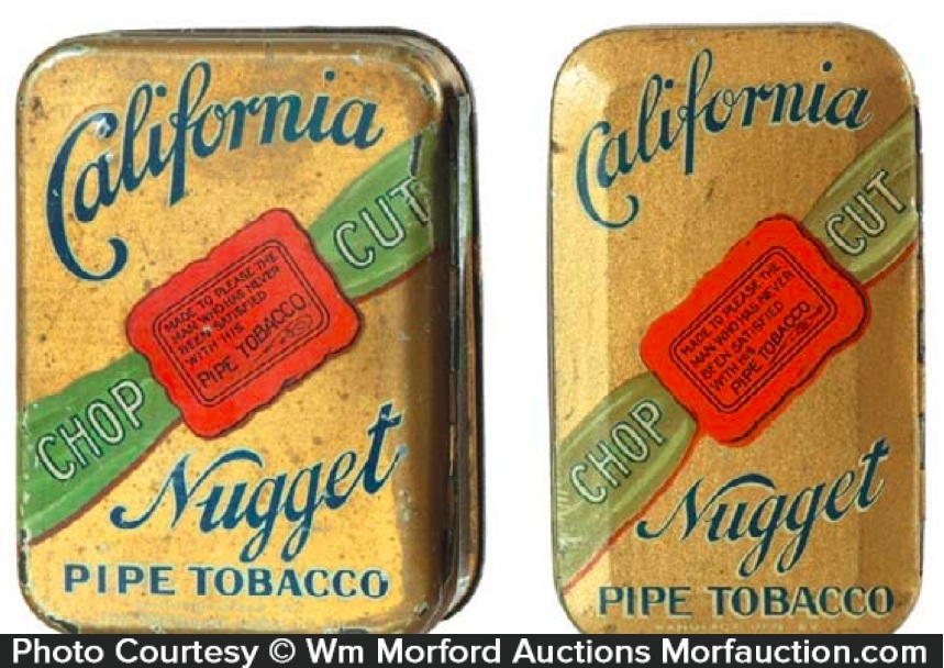 California Nugget Tobacco Tins