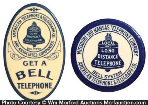 Bell Systems Telephone Mirrors