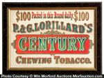 Century Chewing Tobacco Sign