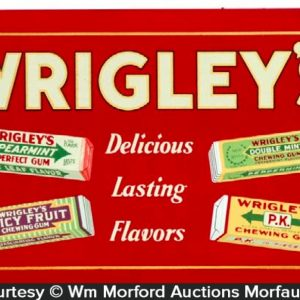 Wrigley's Delicious Flavors Sign