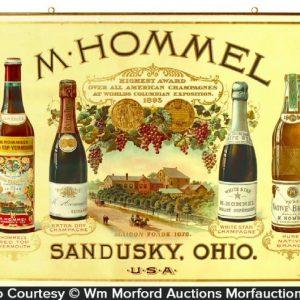 M. Hommel Wine Sign