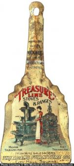 Treasure Line Stoves Scoop Sign