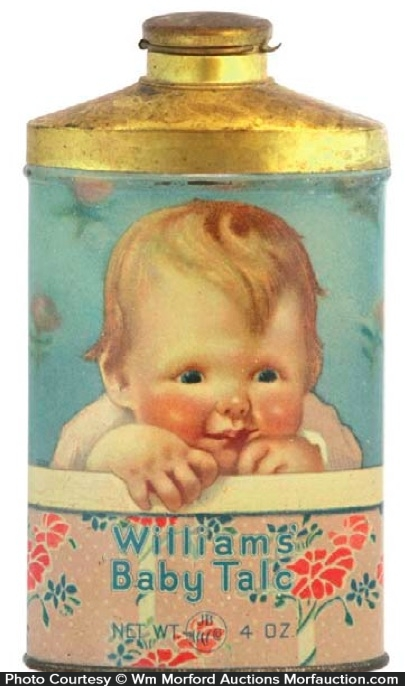 Williams Baby Talc Tin