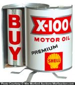 Shell X-100 Motor Oil Sign