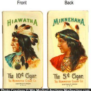Hiawatha Minnehaha Cigar Notebook