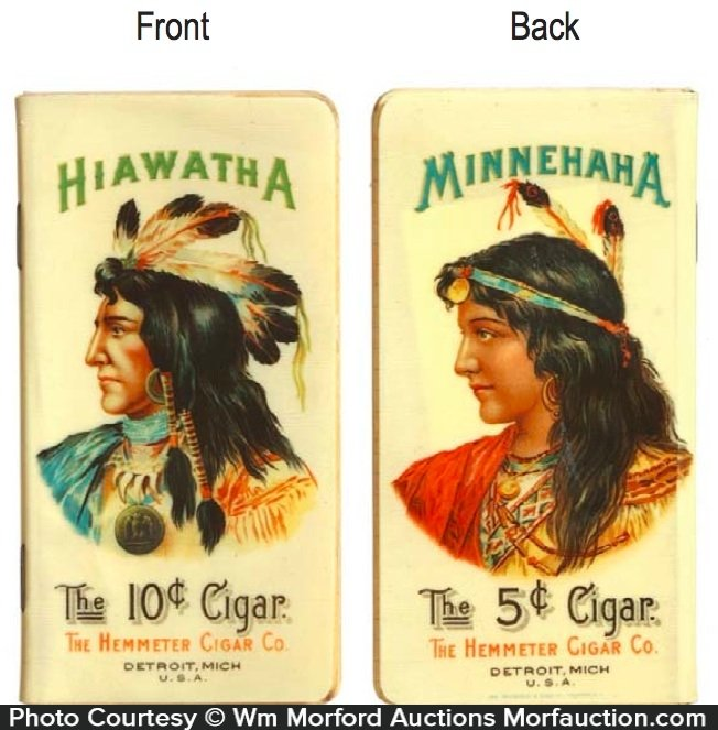 Hiawatha Minnehaha Cigar Notebook