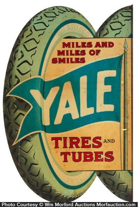 Antique Advertising Yale Tires Sign