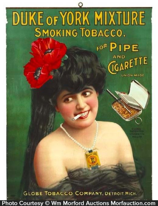 Duke Of York Tobacco Sign