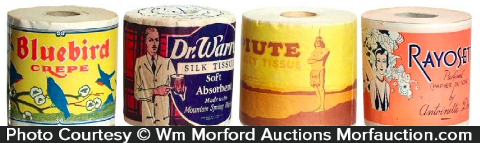Vintage Toilet Paper Rolls