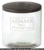 Adams Pure Chewing Gum Jar
