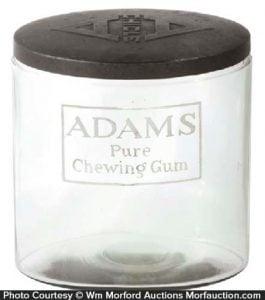 Adams Pure Chewing Gum Jar