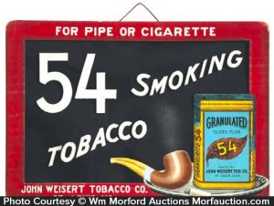 Granulated 54 Tobacco Sign