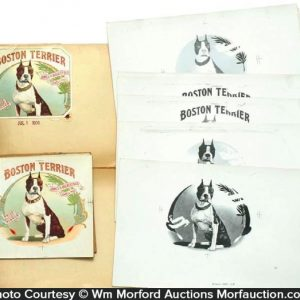 Boston Terrier Cigar Labels Book