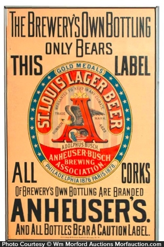 Anheuser St. Louis Beer Sign