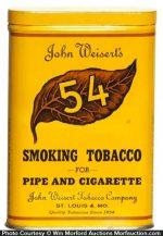 Weisert's 54 Tobacco Tin