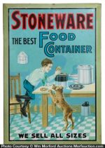 Stoneware Food Container Sign