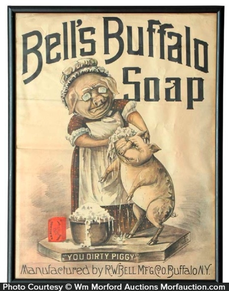 Bell's Buffalo Soap Sign