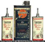 Tavern Motor Oil Tins