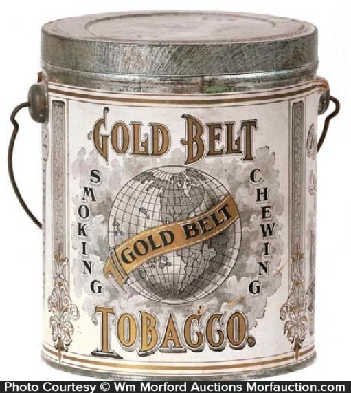 Gold Belt Tobacco Pail