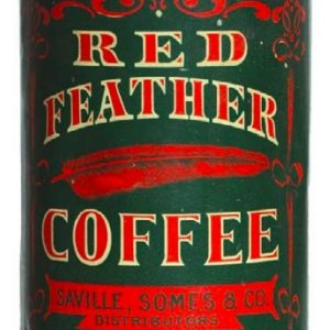 Red Feather Coffee Tin