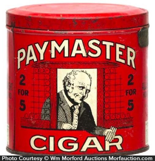 Paymaster Cigar Can