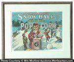 Snowball Pop Corn Sign