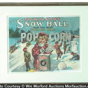 Snowball Pop Corn Sign